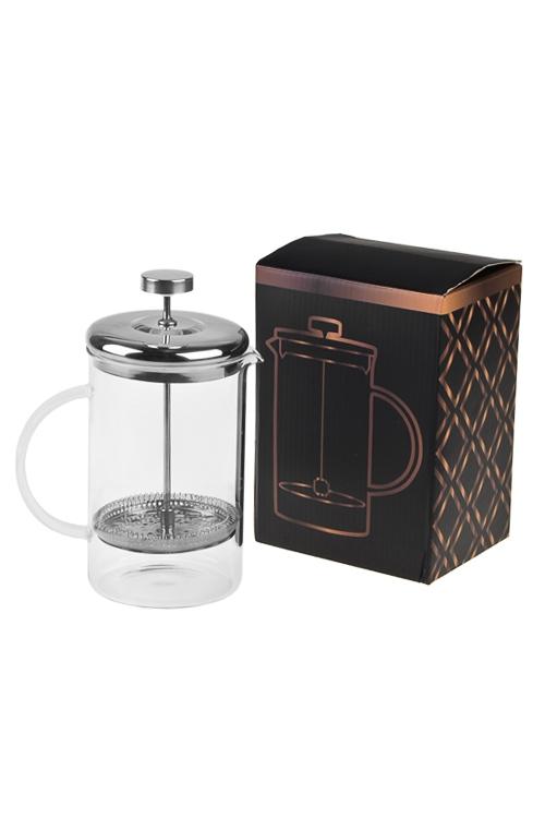 Кофейник/чайник заварочный Любимый напитокПодарки ко дню рождения<br>920мл, стекло, металл, пластм.<br>