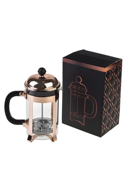 Кофейник/чайник заварочный Любимый напитокКофейные наборы<br>920мл, стекло, металл, пластм., розово-золот.<br>