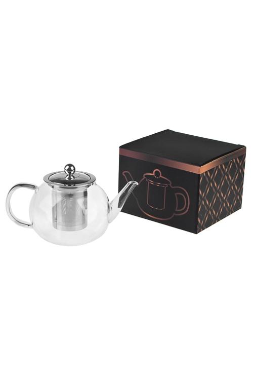 Чайник заварочный Любимый напитокКухонные аксессуары<br>850мл, стекло, металл, с ситечком<br>