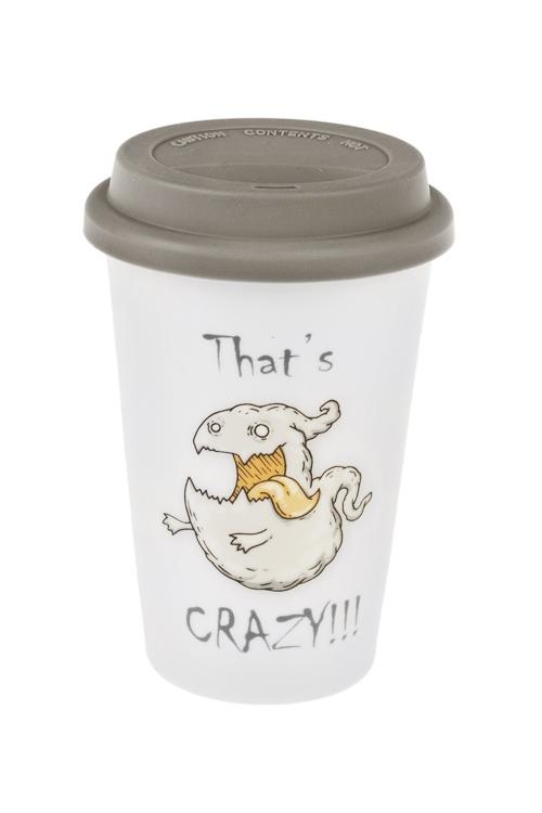 Стакан для чая/кофе ПривидениеПосуда<br>380мл, керам., силикон (с крышкой)<br>