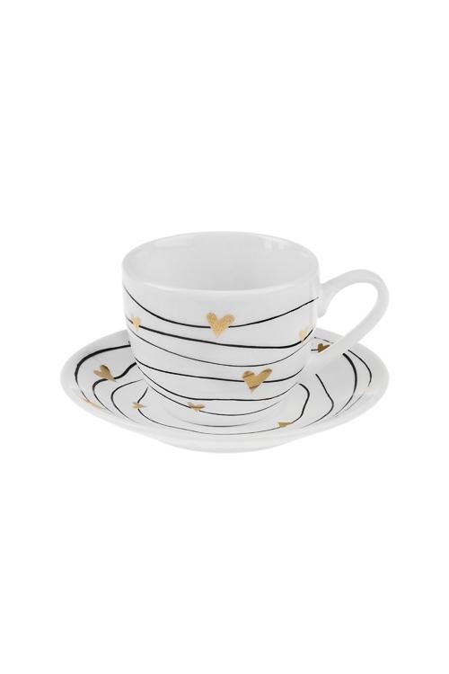 Набор для эспрессо СердечкиПодарки ко дню рождения<br>1 перс., керам. (чашка 90мл)<br>