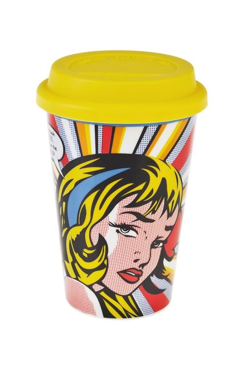 Стакан для чая/кофе Повелительница мираПосуда<br>380мл, керам., силикон (с крышкой)<br>