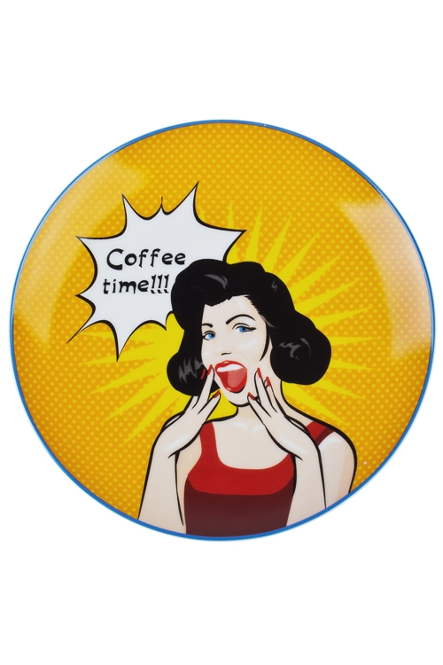 Тарелка Время кофеПодарки ко дню рождения<br>Д=20см, керам.<br>