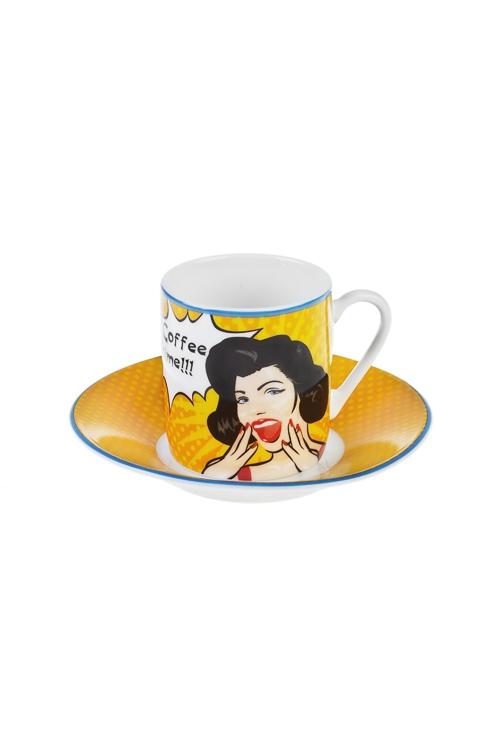 Набор для эспрессо Время кофеПодарки ко дню рождения<br>1 перс., керам. (чашка 80мл)<br>