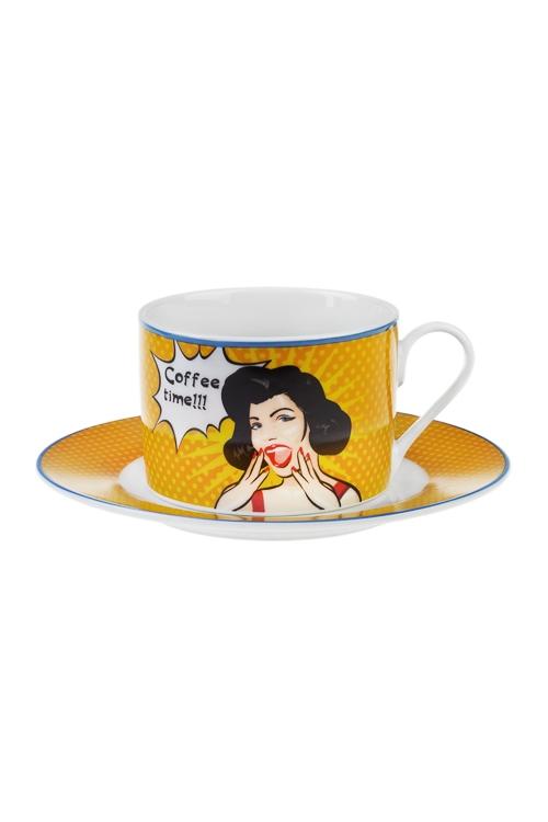 Набор для каппучино Время кофеКофейные наборы<br>1 перс., керам. (чашка 250мл)<br>