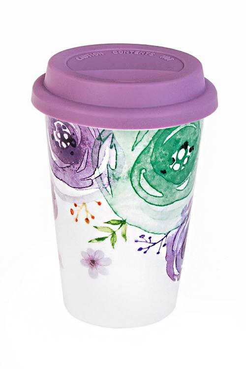 Стакан для чая/кофе Акварельная палитраТермокружки и стаканы для чая/кофе<br>380мл, керам. (с крышкой)<br>
