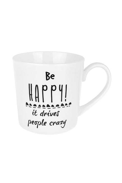 Кружка СчастьеКружки и бокалы<br>450мл, керам., черно-белая<br>
