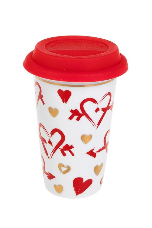 """Стакан для чая/кофе """"Пылкие сердца"""""""