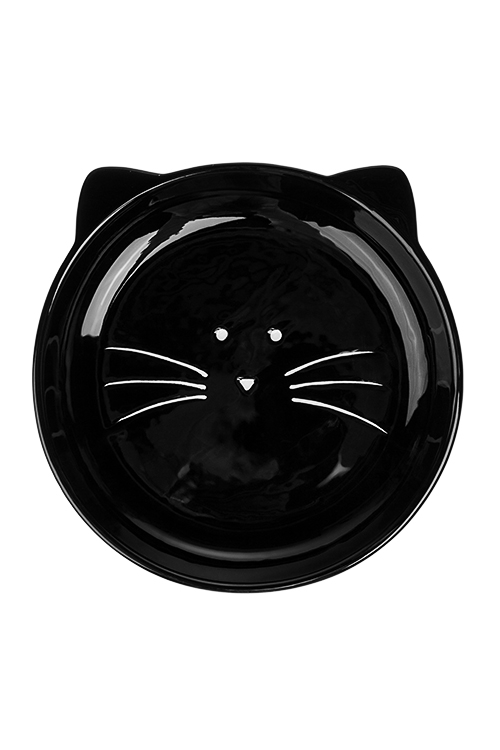 Тарелка УсатикПосуда на Хэллоуин<br>Д=20см, керам., черная<br>
