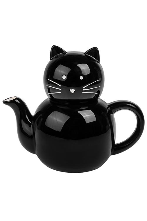 Чайник заварочный УсатикПосуда на Хэллоуин<br>750мл, керам., черный<br>