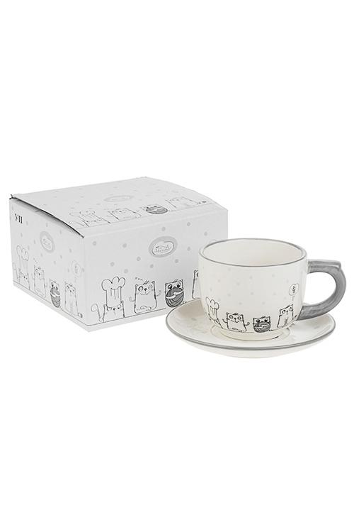 Чайная пара КотикиПосуда<br>керам. (чашка 200мл)<br>