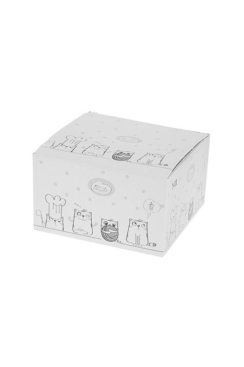 """Чайная пара """"Котики"""" от Красный куб"""