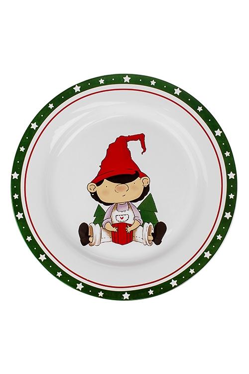Блюдо новогоднее ГномикПосуда<br>Д=27см, керам.<br>