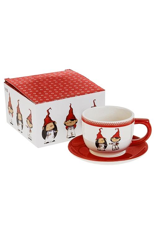 Чайная пара ГномикиПосуда<br>керам. (чашка 200мл)<br>