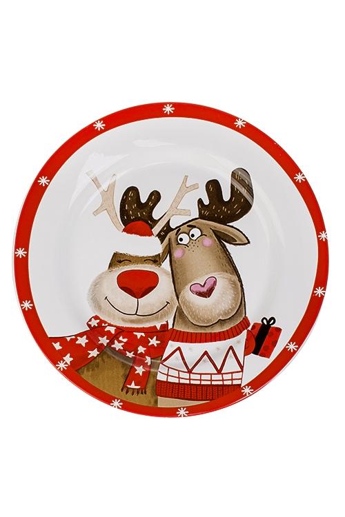 Блюдо новогоднее Лучшие друзьяПодарки<br>Д=27см, керам.<br>