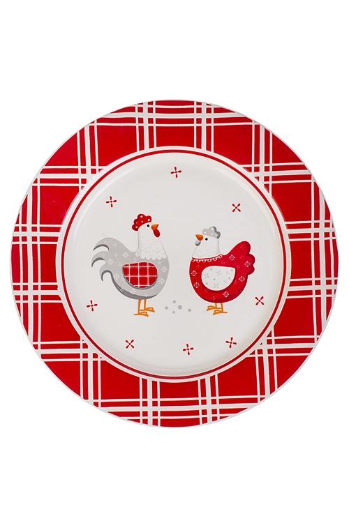Блюдо Яркая курочкаБлюда и подставки для яиц<br>Д=27см, керам.<br>