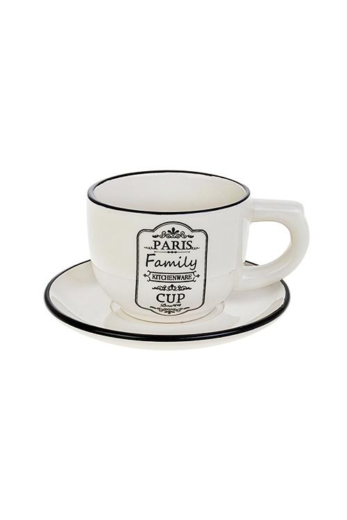 Чайная пара СемьяПосуда<br>керам. (чашка 200мл)<br>