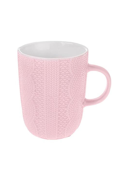 Кружка Вязаный рисунокКружки<br>340мл, керам., розовая<br>