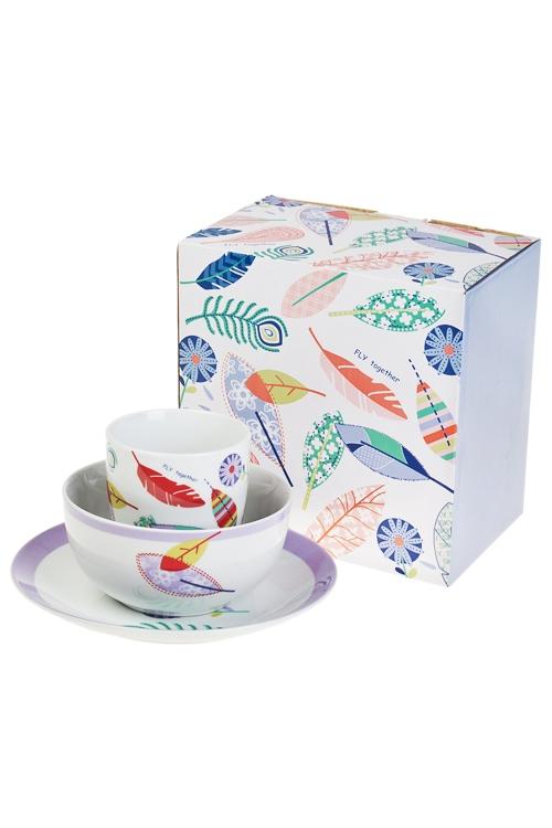 Набор для завтрака Волшебное перышкоСтоловые наборы<br>1 перс., фарфор (тарелки, кружка)<br>