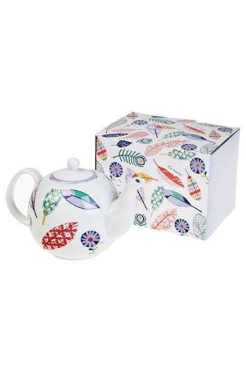 Чайник заварочный Волшебное перышкоЧайные наборы<br>1300мл, керам., с подогревателем<br>