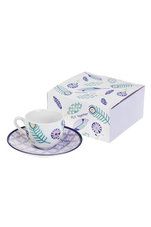 Набор для эспрессо Волшебное перышкоКофейные наборы<br>1 перс, фарфор (чашка 90мл)<br>
