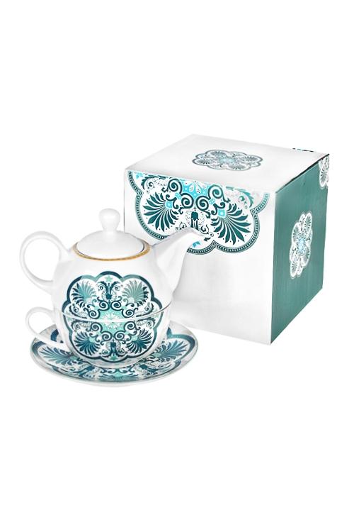 Набор чайный ЭтноПосуда<br>1 перс., керам. (чайник 400мл, кружка 250мл, блюдце)<br>