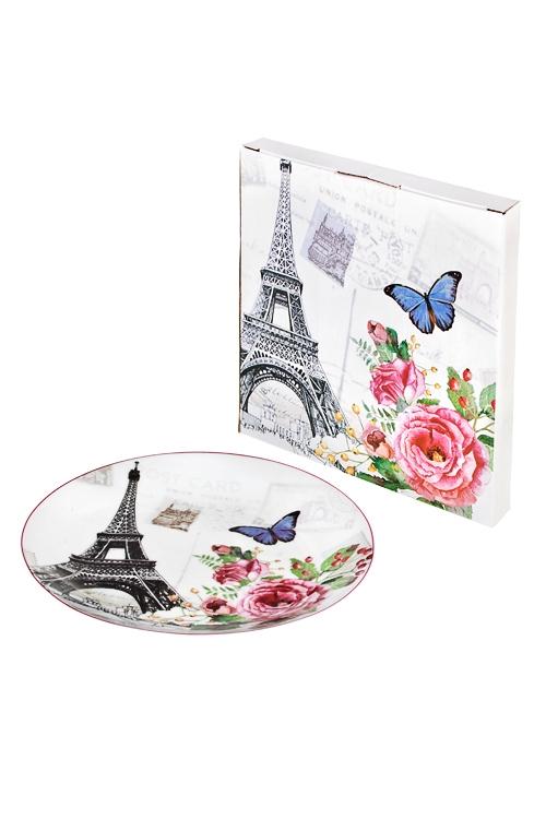 Тарелка Парижские историиТарелки и пиалы<br>Д=20см, керам.<br>