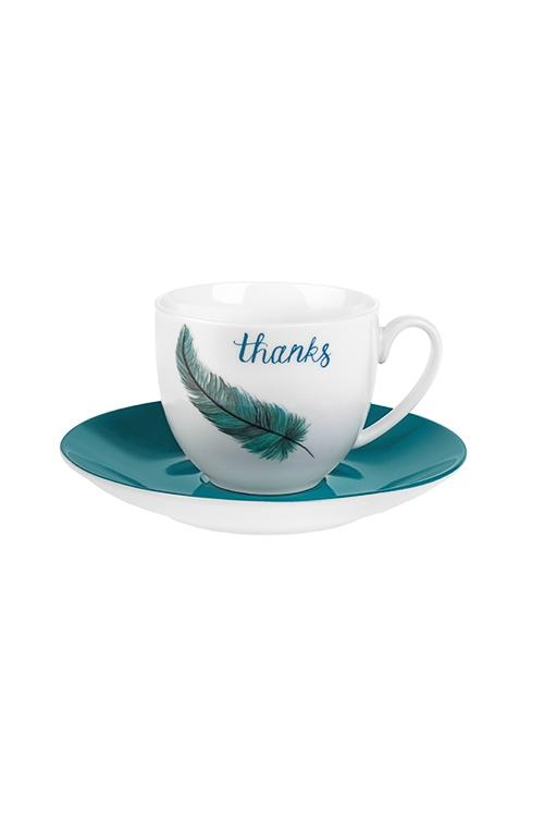 Набор для эспрессо Счастливые перышкиКофейные наборы<br>1 перс., керам. (чашка 90мл)<br>