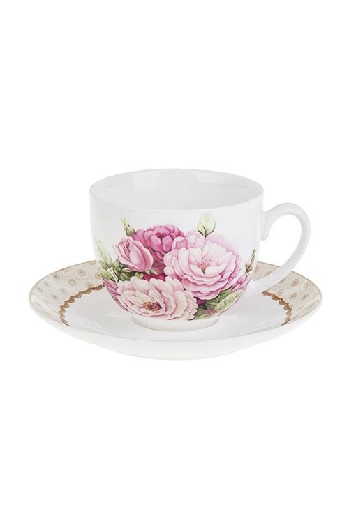 Чайная пара Изысканный букетПосуда<br>фарфор (чашка 220мл)<br>