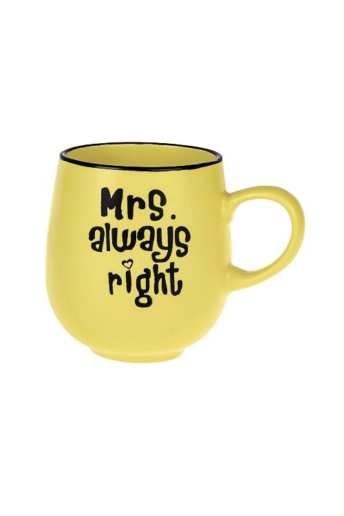 Кружка МиссисКружки и бокалы<br>450мл, керам., черно-желтая<br>