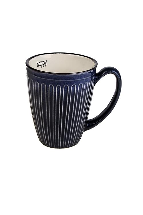 Кружка СчастьеПосуда<br>320мл, керам., темно-синяя<br>