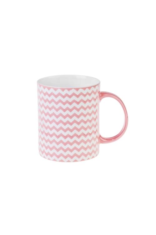 Кружка ЗигзагПодарки на день рождения<br>340мл, керам., розовая<br>
