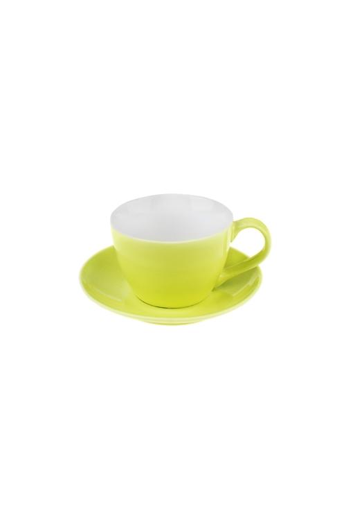Чайная пара ГлянецПодарки на день рождения<br>Керам., салат. (чашка 180мл)<br>