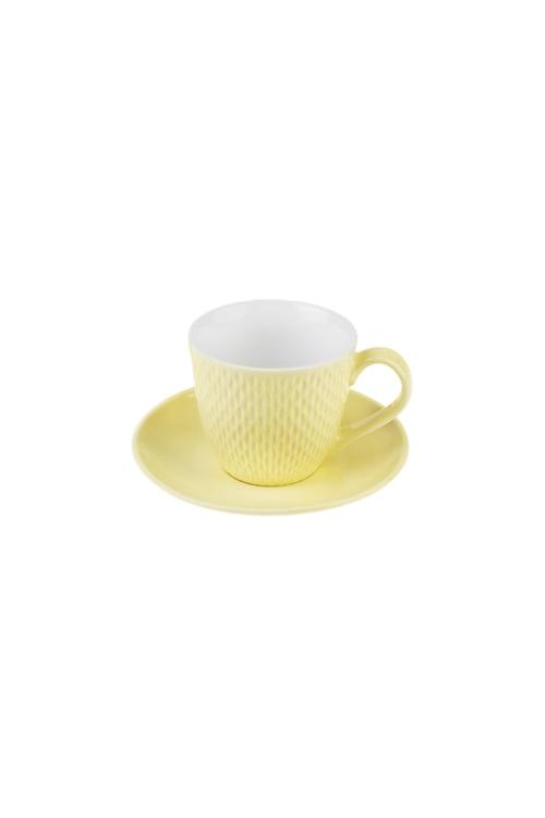 Чайная пара ТочкиПосуда<br>Керам., лимонная (чашка 180мл)<br>