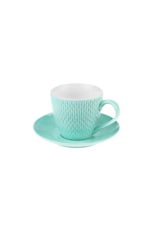 Чайная пара ТочкиПосуда<br>Керам., мятная (чашка 180мл)<br>