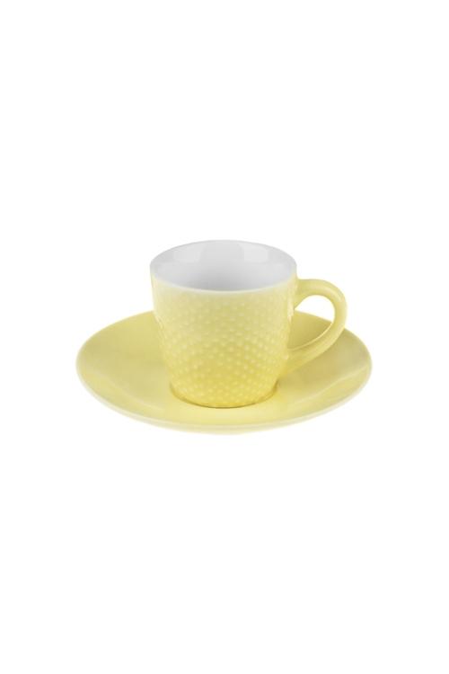 Набор для эспрессо ТочкиПодарки на день рождения<br>Керам., лимонный (чашка 90мл)<br>