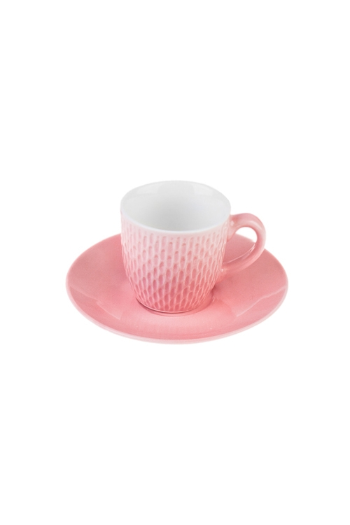 Набор для эспрессо РябьПосуда<br>Керам., розовый (чашка 90мл)<br>
