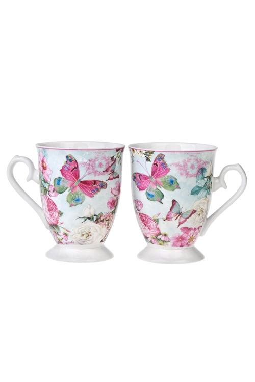 Набор подарочный Волшебные бабочкиПосуда<br>2-предм., 2 перс., керам. (кружки 380мл) в подар. упак.<br>