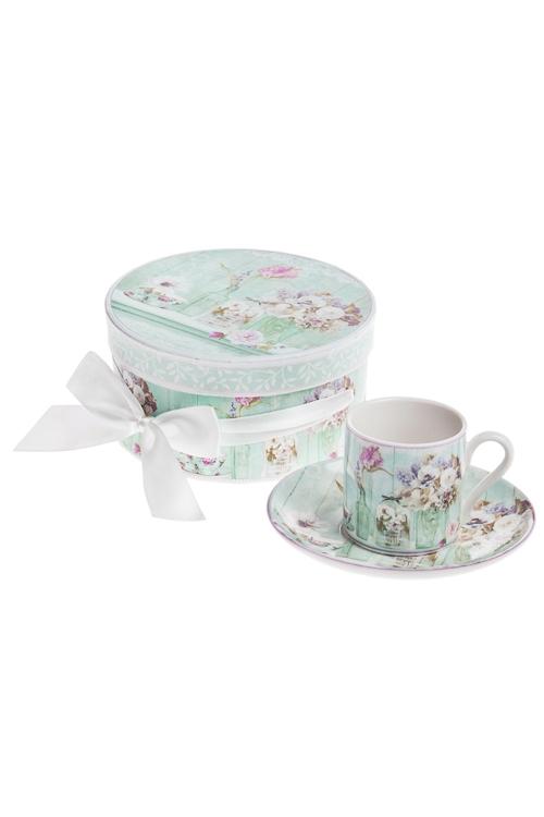 Кофейная пара Прекрасный ПровансПосуда<br>Керам. (чашка 90мл), в подар. упаковке<br>