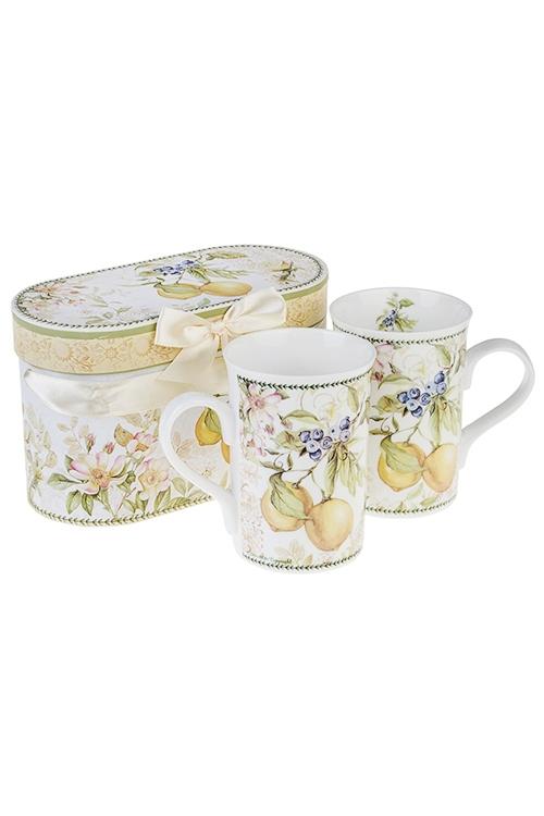 Набор подарочный Солнечный лимонНаборы кружек<br>2-предм., 2 перс., керам. (кружки 300мл), в подар. упак.<br>