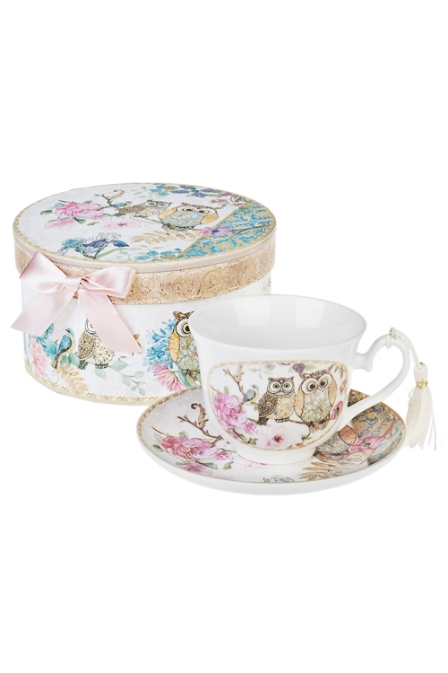 Чайная пара СовятаПосуда<br>Керам. (чашка 200мл), в подарочной упаковке<br>
