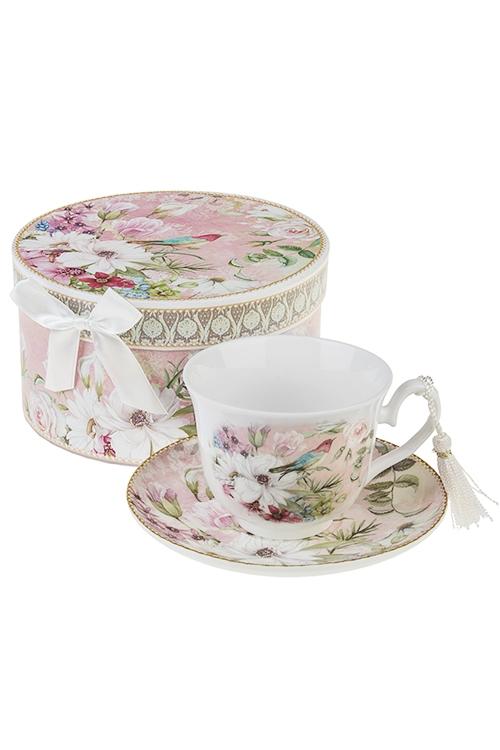 Чайная пара Сады ПровансаЧайные пары<br>Керам. (чашка 200мл), в подарочной упаковке<br>