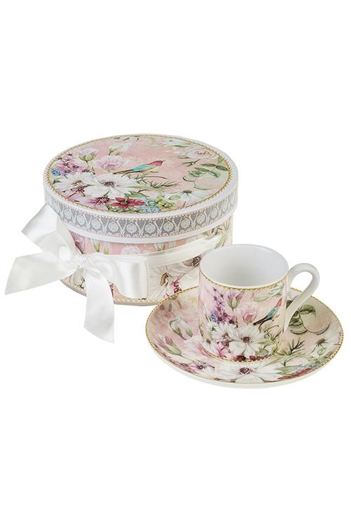 Кофейная пара Сады ПровансаКофейные наборы<br>Керам. (чашка 90мл), в подарочной упаковке<br>