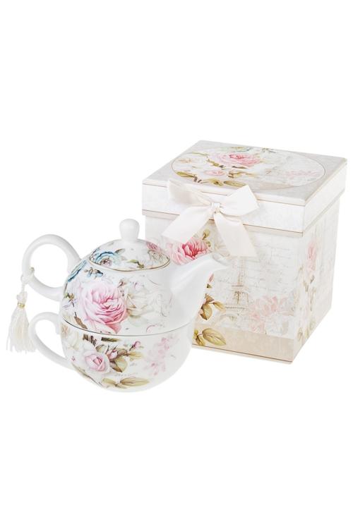Набор чайный О, ПарижЧайные наборы<br>2-предм, 1 перс., керам. (чайник 250мл, чашка 250мл), в подар. упак.<br>