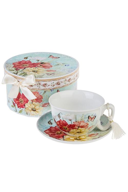 Чайная пара Яркие макиПосуда<br>Керам. (чашка 200мл), в подарочной упаковке<br>
