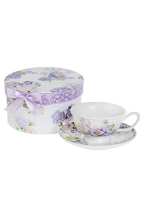 Чайная пара Сиреневый райПосуда<br>Керам. (чашка 240мл), в подарочной упаковке<br>