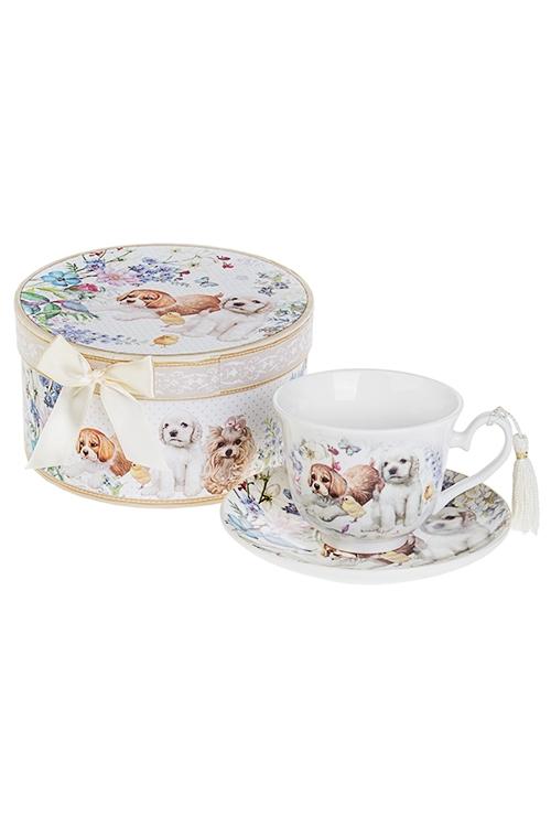 Чайная пара Верные друзьяПосуда<br>Керам. (чашка 240мл), в подарочной упаковке<br>
