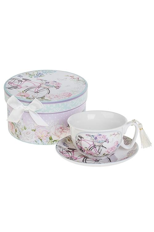 Чайная пара Летняя прогулкаПосуда<br>Керам. (чашка 240мл), в подарочной упаковке<br>