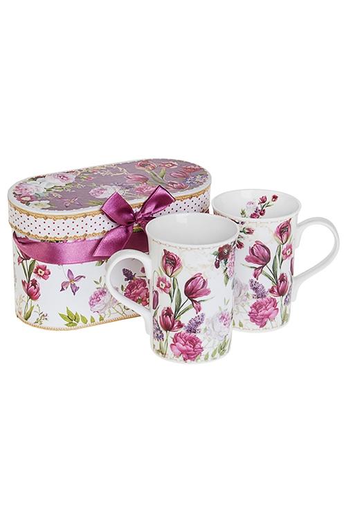 Набор подарочный Прекрасный садКружки<br>2-предм., 2 перс., керам. (кружки 300мл) в подар. упак.<br>