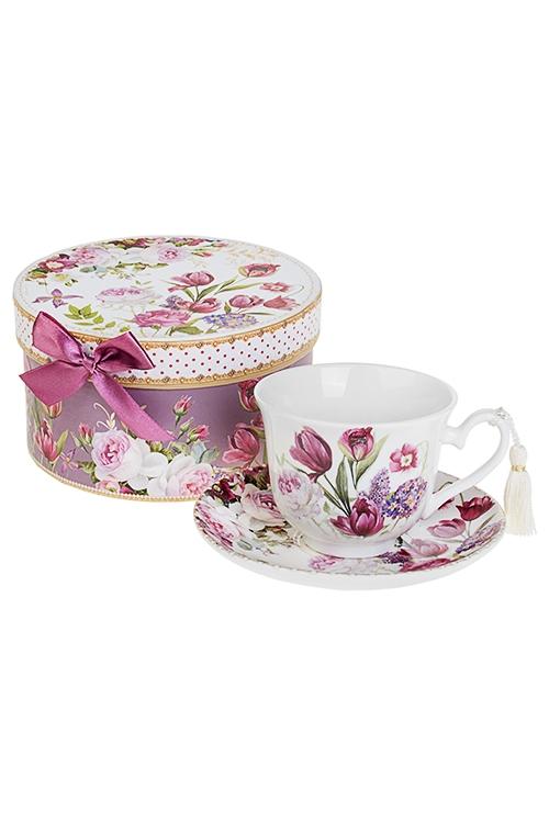 Чайная пара Прекрасный садПосуда<br>Керам. (чашка 240мл), в подарочной упаковке<br>